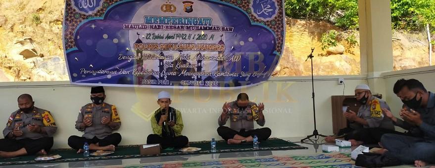 Polres Kepulauan Anambas Peringati Maulid Nabi Muhammad SAW 1442 H