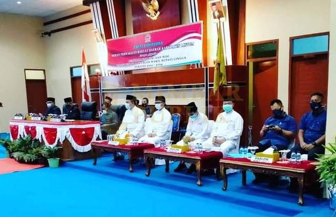 Adu Visi- Misi Debat Publik Calon Bupati dan Wakil Bupati Lingga Berjalan Lancar