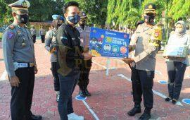 Polres Enrekang Dibantu Alat Peraga Masker BRI Peduli Demi Tanggulangi Covid-19
