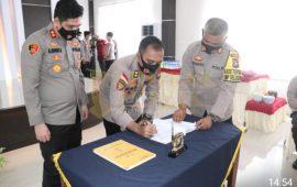 Laporan Kesatuan Dalam Rangka Serah Terima Jabatan Kapolres Lingga