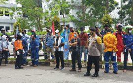 Polresta Barelang Turunkan 147 Personel PAM Unras Tolak Penetapan Omnibus Law RUU Cipta Kerja di Batam