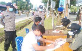 Tim Gabungan TNI-POLRI Operasi Yustisi Jaring 64 Pelanggar Prokes