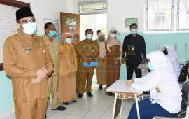 Wakil Wali Kota Padang Hendri Septa Meninjau Proses Pembelajaran Tatap Muka Hari Pertama