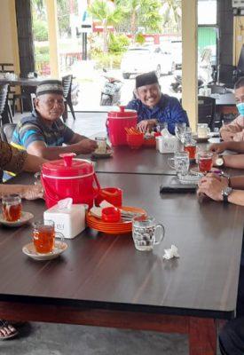 Para Tokoh Agama dan Masyarakat Tanjung Uban Kelurahan Tanjung Uban Sambangi Kantor Unit Pelayanan Pelabuhan (UPP) Syahbandar Kelas I Tanjung Uban, Kamis (28/1/2021).