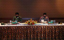 Panglima TNI dan Kapolri Lakukan Pertemuan dengan Satgas Nemangkawi