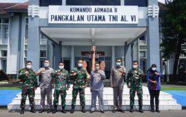 Wadan Lantamal VI Terima Kunjungan Kerja Tim Kemenko Polhukam di Mako Lantamal Vl Kota Makassar