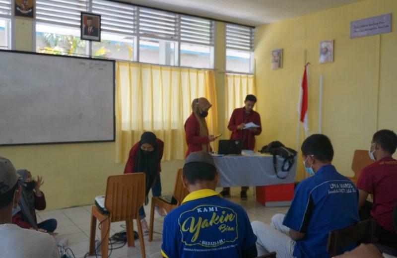 Mahasiswa Politeknik Pangkep Berikan Materi Teknologi Informasi Kepada Andikpas LPKA Kelas ll Maros (Foto : Nur Fajriansyah)