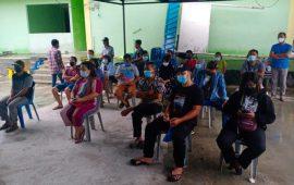 TNI AL Vaksinasi Warga Tanjunguban Bintan