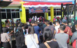 Yonmarhanlan IV Dukung Serbuan Vaksinasi Masyarakat Maritim