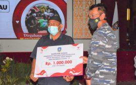 Danlantamal Hadiri Peluncuran Bansos Keluarga Tidak Mampu