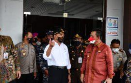 Kedatangan Menko PMK di Bandara RFH Tanjungpinang Disambut Danlantamal IV