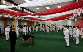 Pengukuhan Paskibraka Kota Tanjungpinang Dihadiri Komandan Yonmarhanlan IV