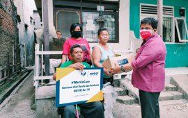 HUT RI ke-76, PBHM Bersama Matrix NAP Info Berikan Bantuan Bagi Penyandang Disabilitas di Jakarta