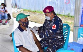 Perangi Covid-19, Korps Marinir TNI AL Laksanakan Program Vaksinasi Massal