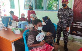 Serbuan Vaksinasi Maritim Korps Marinir TNI AL, Mahasiswa dan Pelajar Sorong Jadi Target