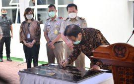 Tandatangani Prasasti di Kantor BPN Pekanbaru, Menteri ATR/BPN Ingin Sangketa Tanah Dituntaskan