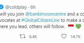 Coldplay Ajak Jokowi Gabung Global Citizen Live