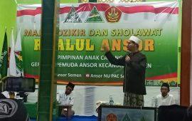 Warga NU dan Pemuda Ansor Hadiri Acara Majlis Dzikir dan Sholawat Rijalut Ansor Ranting Kec. Semen