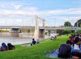Kali Brantas menjadi destinasi wisata baru di kota Kediri