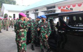 Danpuspom Angkatan Laut Kunjungi Mako Gurita Perkasa Yonmarhanlan IV Tpi